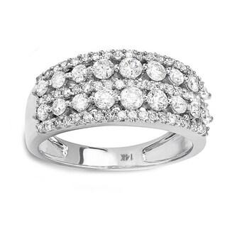 14k White Gold 1 1/6ct TDW Diamond Pave Engagement Ring (H-I, I1-I2)