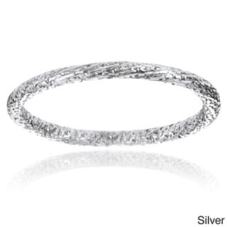 Tressa Collection Sterling Silver Handcrafted Stipple Band