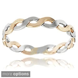 Tressa Sterling Silver Handcrafted Twisted Band