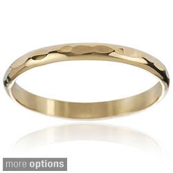 Tressa Collection Gold-tone Sterling Silver Handcrafted Hammered Band
