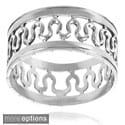 Tressa Collection Sterling Silver Handcrafted Center Wave Band