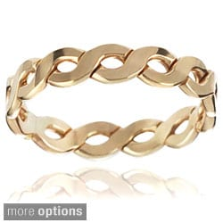 Tressa Sterling Silver Handcrafted Braided Band