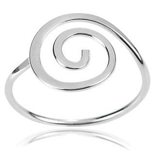 Tressa Collection Sterling Silver Handcrafted Swirl Ring