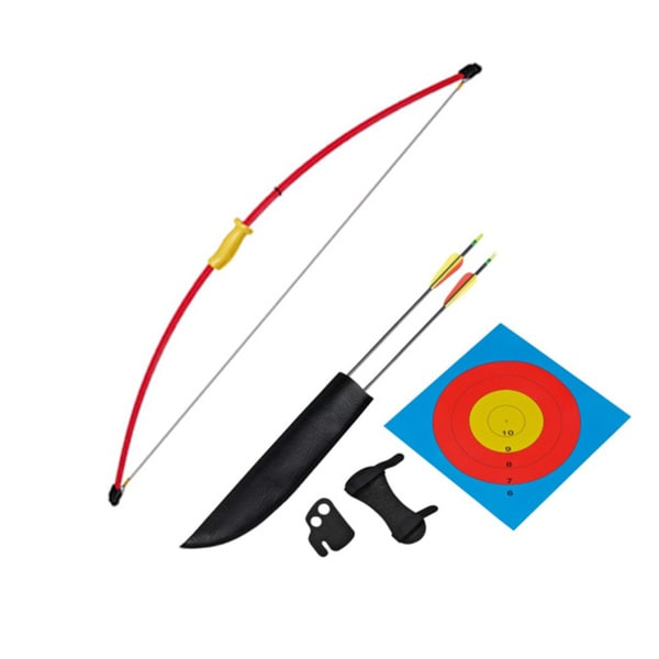 "Wizard Archery 15 Lbs 51"" Long Youth Recurve Bow Set - Red"