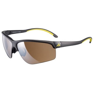 Adidas Men's Large 'Adivista Phantom Lmn' Black Sport Sunglasses