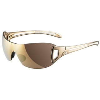 Adidas Women's Large 'W Adilibria' Gold Shield Sunglasses