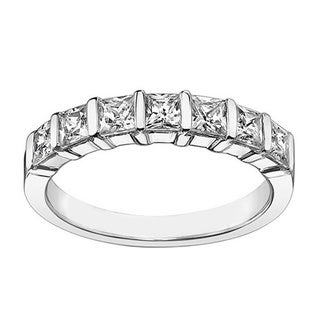 Platinum or White Gold 1 1/4ct TDW Diamond Wedding Band (F-G, SI1-SI2)