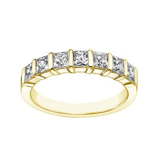 14k or 18k Yellow Gold 1 1/4ct TDW Diamond Wedding Band (F-G, SI1-SI2)