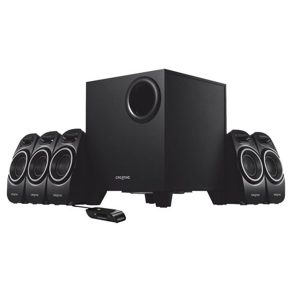Creative A Series A550 5.1 Speaker System - 37 W RMS - Black