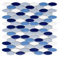 SomerTile 'Posh Ellipse Oceano' 10.25 x 12-inch Porcelain Mosaic Tiles (Pack of 10)