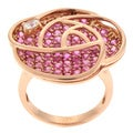 Beverly Hills Charm 14k Rose Gold Pink and White Sapphire Ring