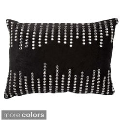 Rhinestone Striped 14 x 20-inch Throw Pillow