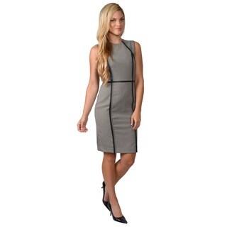 Calvin Klein Women's Sleeveless Checker Print Shift Dress
