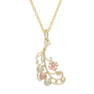 Black Hills Gold Flower Necklace