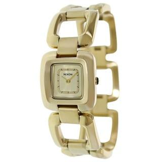 Nixon Women's Sisi Ss A285502-00 Gold Stainless Steel Quartz Watch