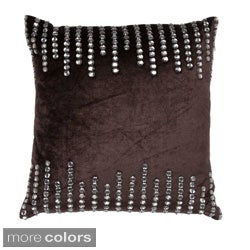 Rhinestone Paneled 18-inch Square Decorative Pillow