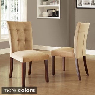 Colyton Almond Brown Tufted Microsuede Side Chairs (Set of 2)