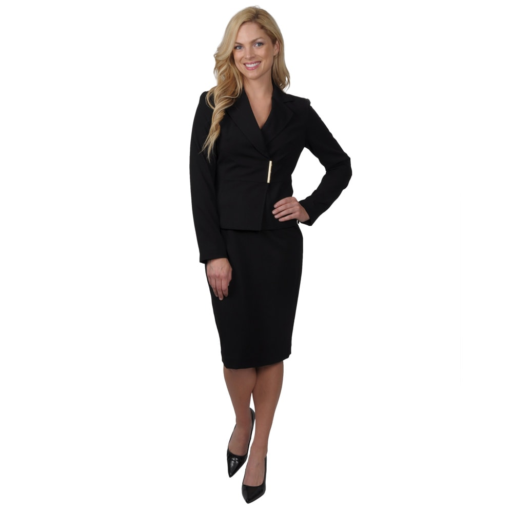 image black skirt suits for