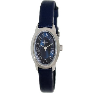 Nixon Women's Scarlet Leather A247307-00 Blue Leather Quartz Watch with Blue Dial
