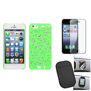 INSTEN Clear Screen Protector/ Anti-slip Mat/ Phone Case Cover for Apple iPhone 5