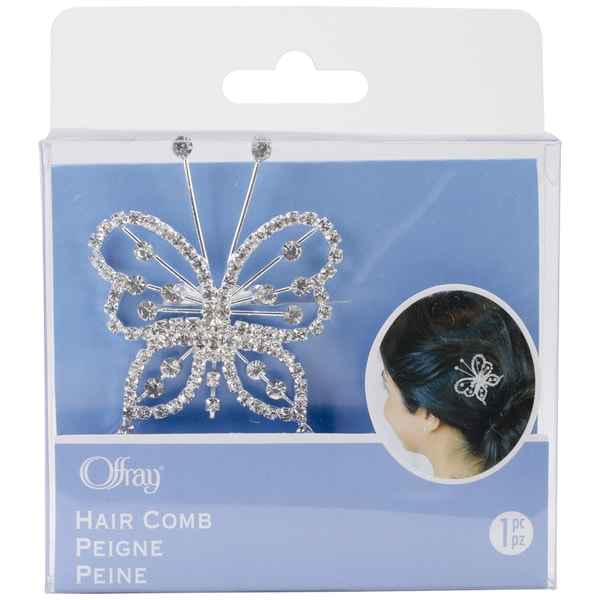 Clear Butterfly Hair Comb