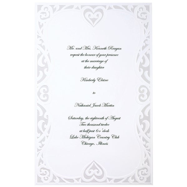 Invitation Kit 50/Pkg-Luxe Hearts