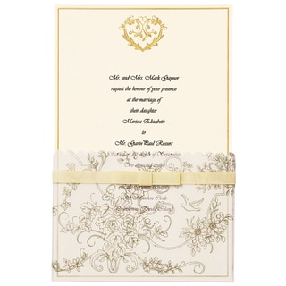 Invitation Kit 25/Pkg-Gold Wedding Toile