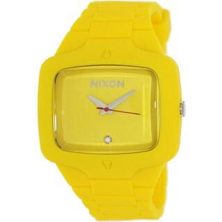 Nixon Men's Player A139250-00 Yellow Rubber Quartz Watch with Yellow Dial