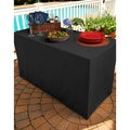 Black Folding Table Tablecloth