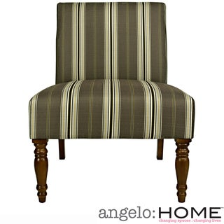 angelo:HOME Bradstreet Modern Classic Stripe Java Brown Armless Chair