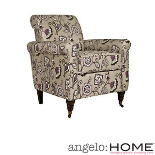 angelo:HOME Harlow Vintage Lavender Purple Floral Chair