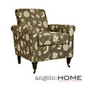 angelo:HOME Harlow Vintage Cocoa Brown Floral Chair