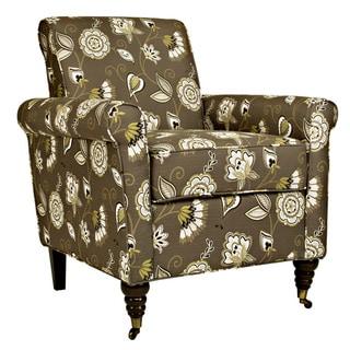Portfolio Hyde Brown Floral Chair