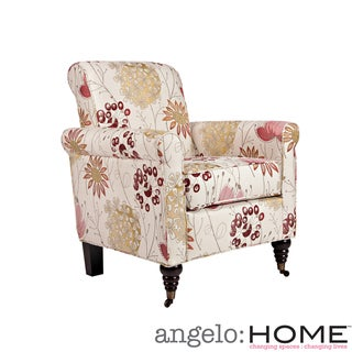 angelo:HOME Harlow Spring Parisian Red Flower Chair