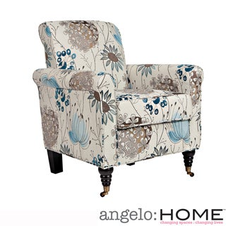 angelo:HOME Harlow Spring Parisian Blue Flower Chair