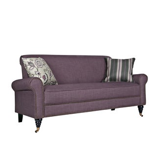 angelo:HOME Harlow Purple Grape Twill Sofa
