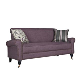 angelo:HOME Harlow Purple Grape Twill Sofa