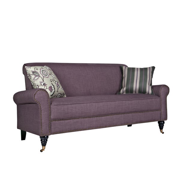 Better Living Hyde Purple Twill Sofa