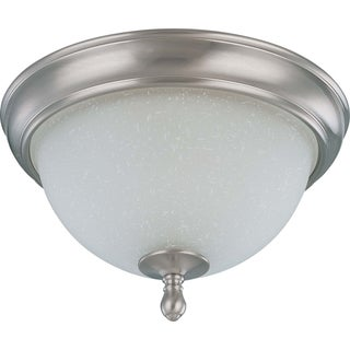 Nuvo Bella 2-light Brushed Nickel Flush Mount