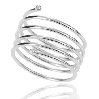 Tressa Collection Sterling Silver Handcrafted Spiral Ring