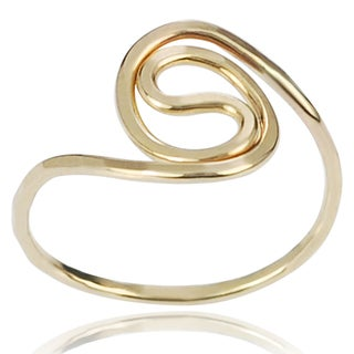 Journee Collection Gold-over-Sterling Silver Handcrafted Swirl Ring