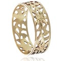 Tressa Collection Sterling Silver Handcrafted Floral Band