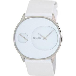 Nixon Women's 'Rayna' White Leather Strap Watch