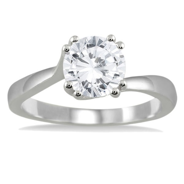 14k White Gold 1ct TDW Diamond Solitaire Engagement Ring (I-J, I2-I3)