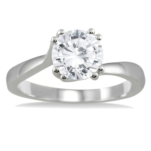Marquee Jewels 14k White Gold 1ct TDW Diamond Solitaire Engagement Ring (I-J, I2-I3)
