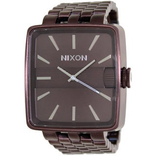 Nixon Men's Sultan A004471-00 Brown Stainless-Steel Quartz Watch with Brown Dial