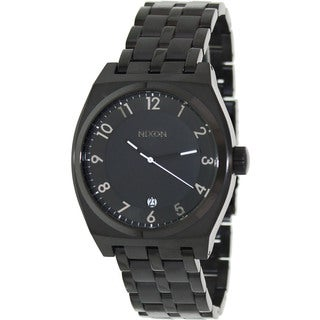 Nixon Men's Monopoly A325001-00 Black Stainless-Steel Quartz Watch with Black Dial