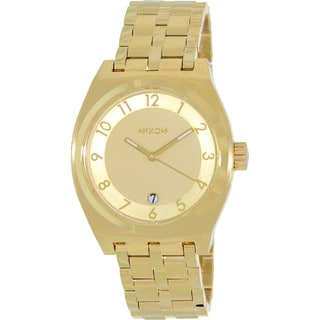 Nixon Men's Monopoly A325502-00 Gold Stainless-Steel Quartz Watch with Gold Dial