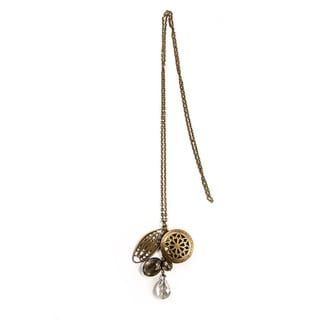 Vintage Locket Charm on Antique Gold Chain (China)
