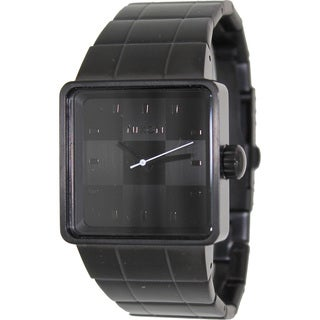 Nixon Men's Quatro A013001-00 Black Stainless-Steel Quartz Watch with Black Dial